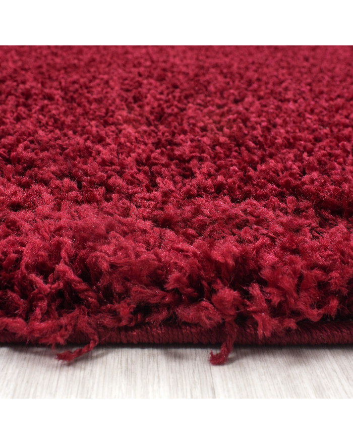 Hochflor Shaggy Teppich Unifarbe DREAM 4000 ROT