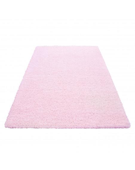 Hochflor Langflor Wohnzimmer Shaggy Teppich Florhöhe 3cm unifarbe Pink