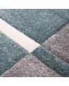 Moderner Designer Konturenschnitt 3D Wohnzimmer Teppich Hawaii 1310 Blau