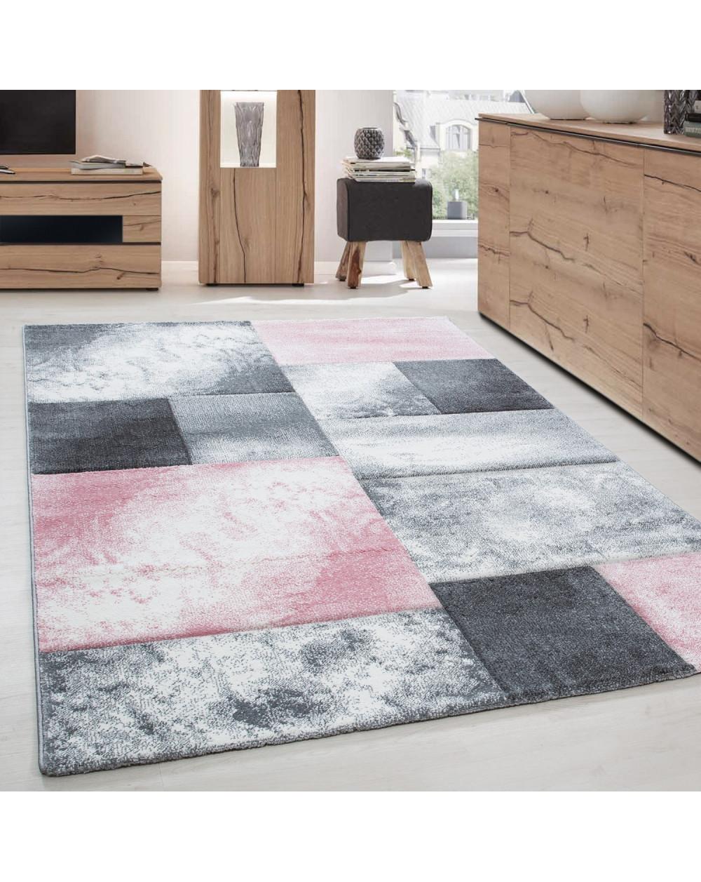 Moderner Designer Konturenschnitt 3D Wohnzimmer Teppich Hawaii 1710 Pink