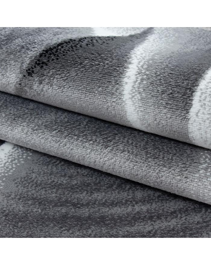 Moderner Designer Wohnzimmer Teppich Parma 9310 Schwarz