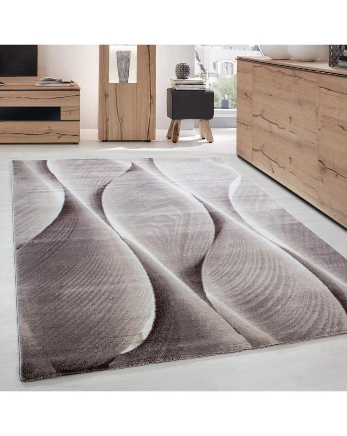 Moderner Designer Wohnzimmer Teppich Parma 9310 Braun