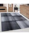 Moderner Designer Wohnzimmer Teppich Parma 9320 Schwarz