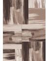 Teppich Modern Designer Abstract Karo Muster Meliert Braun Beige Weiss
