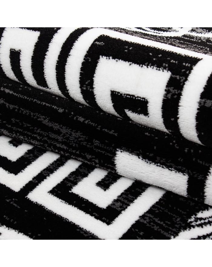 Moderner Designer Elegance Wohnzimmer Teppich Miami 6620 Schwarz-Weiss