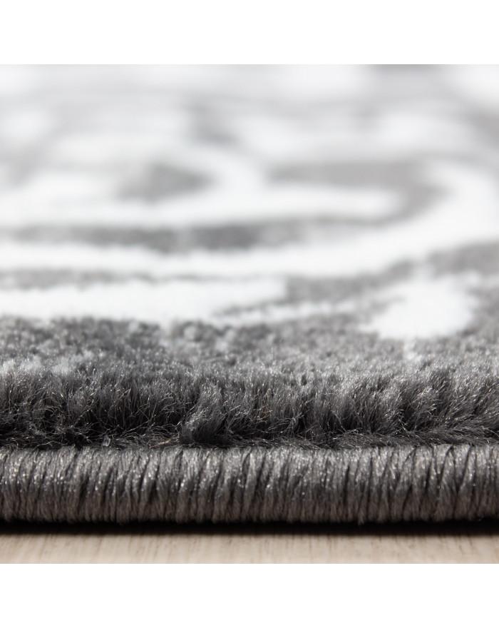 Moderner Designer Elegance Wohnzimmer Teppich Miami 6620 Grau-Weiss