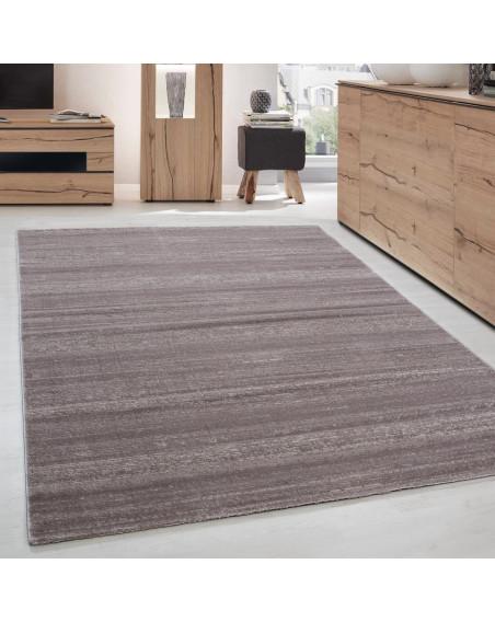 Moderner Designer Kurzflor Wohnzimmer Teppich Plus 8000 Beige