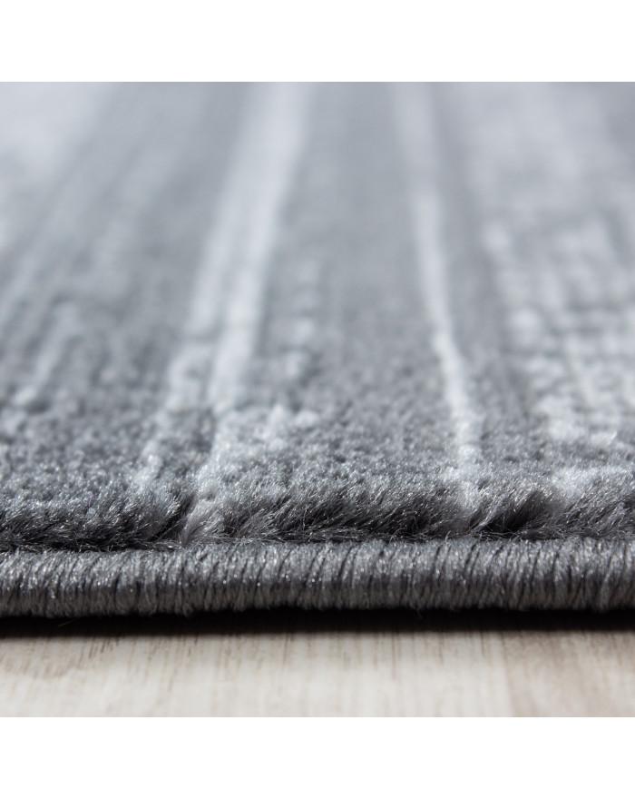 Wohnzimmer Jugendzimmer Teppich Kurzflor Grau Anthrazit