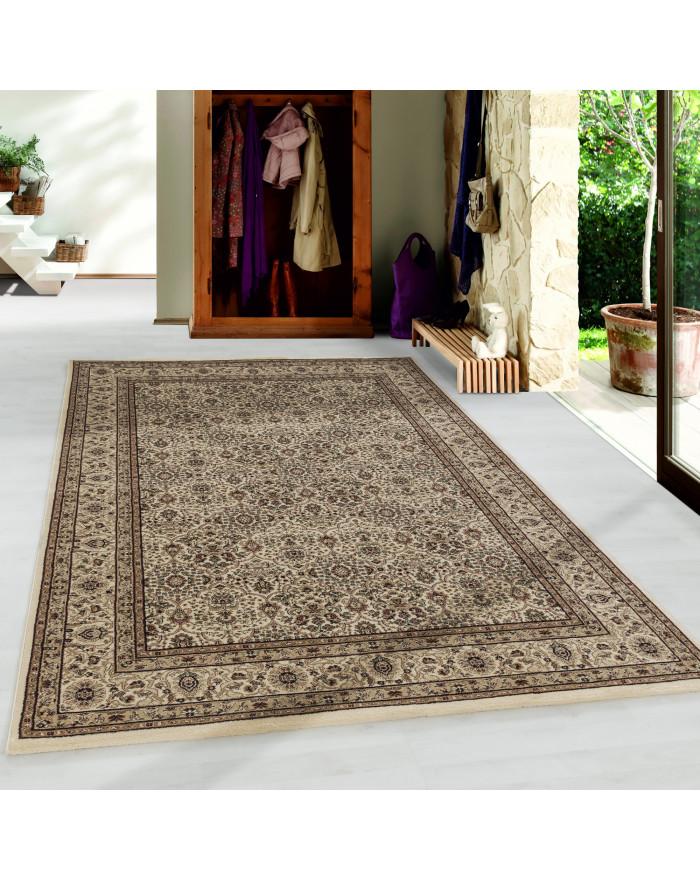 Wohnzimmer Kurzflor Teppich Design Orient Teppich Klassik Antike Ornamente Beige