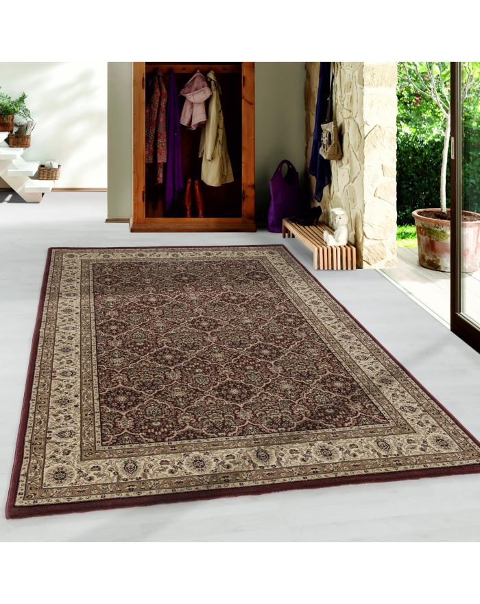 Wohnzimmer Kurzflor Teppich Design Orient Teppich Klassik Antike Ornamente Rot