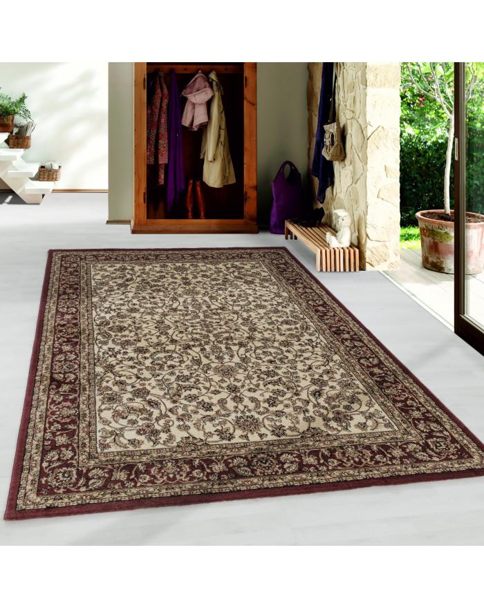 Wohnzimmer Kurzflor Teppich Design Orient Teppich Klassik Antike Ornamente Creme