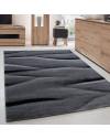 Moderner Designer Blockmuster kurzflor Wohnzimmer Teppich Lucca Blau Grau