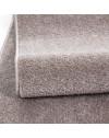 Teppich Kurzflor Modern Wohnzimmer Einfarbig Meliert Uni günstig BEIGE