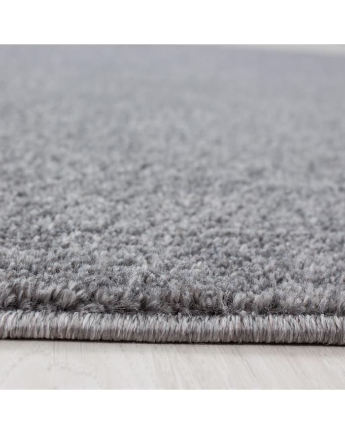 Teppich Kurzflor Modern Wohnzimmer Einfarbig Meliert Uni günstig Hellgrau