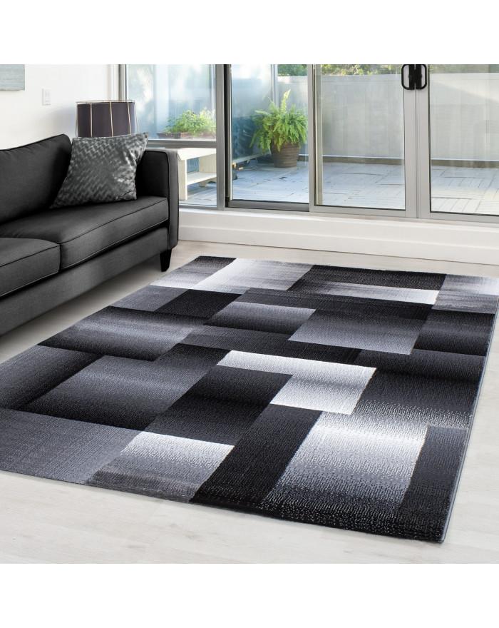 Moderner Designer Teppich Miami 6560 SCHWARZ