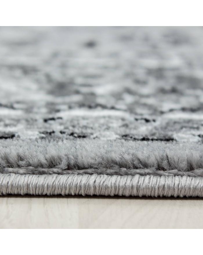 Orientteppich Klassischer Orientalisch Traditional Webteppich Grau Schwarz