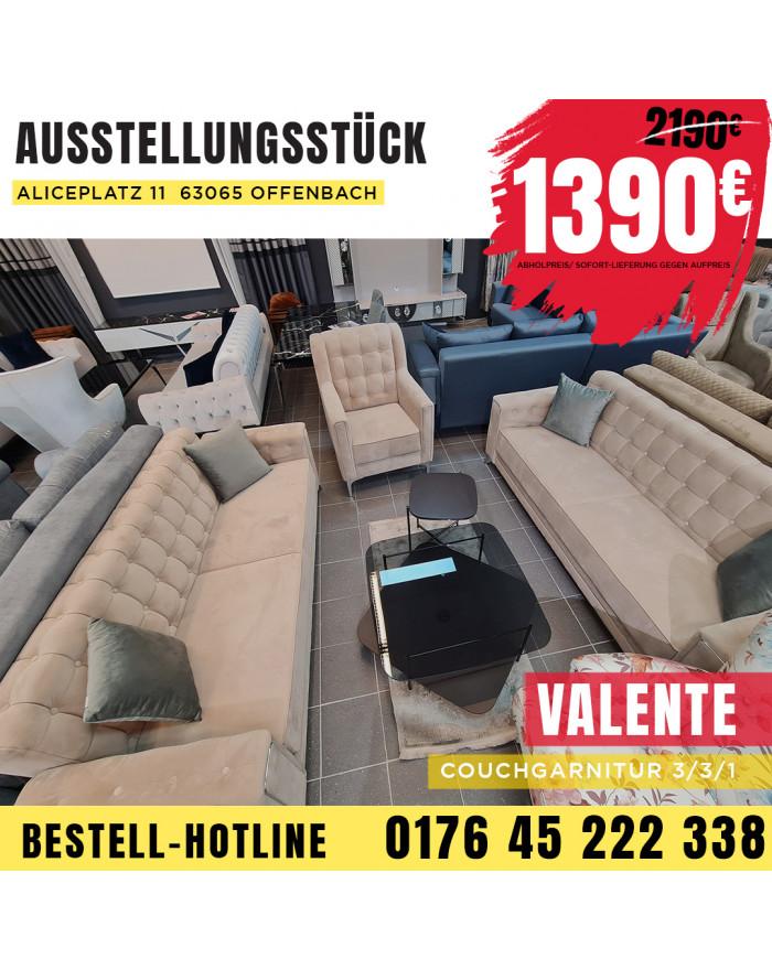 VALENTE Couchgarnitur 3+3+1...