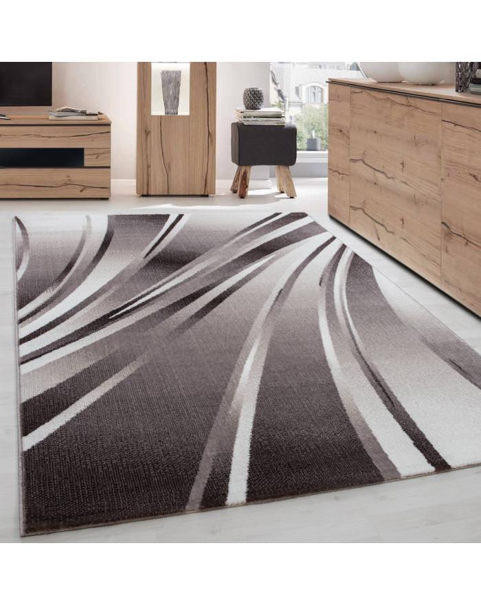 Moderner Designer Teppich Parma 9210 BRAUN
