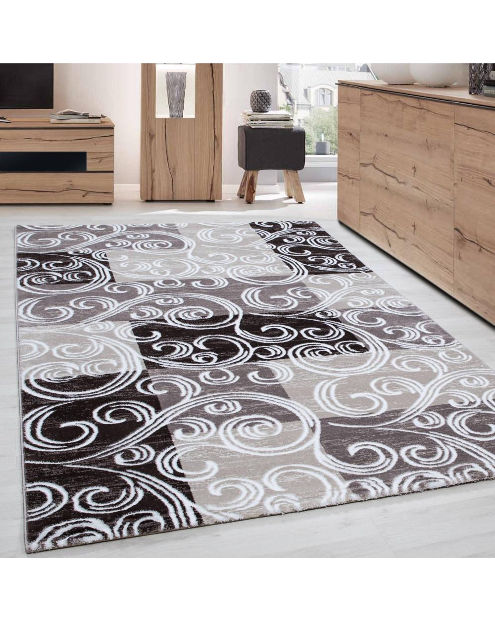 Modern & Designer Teppich TOSCANA 3130 BRAUN