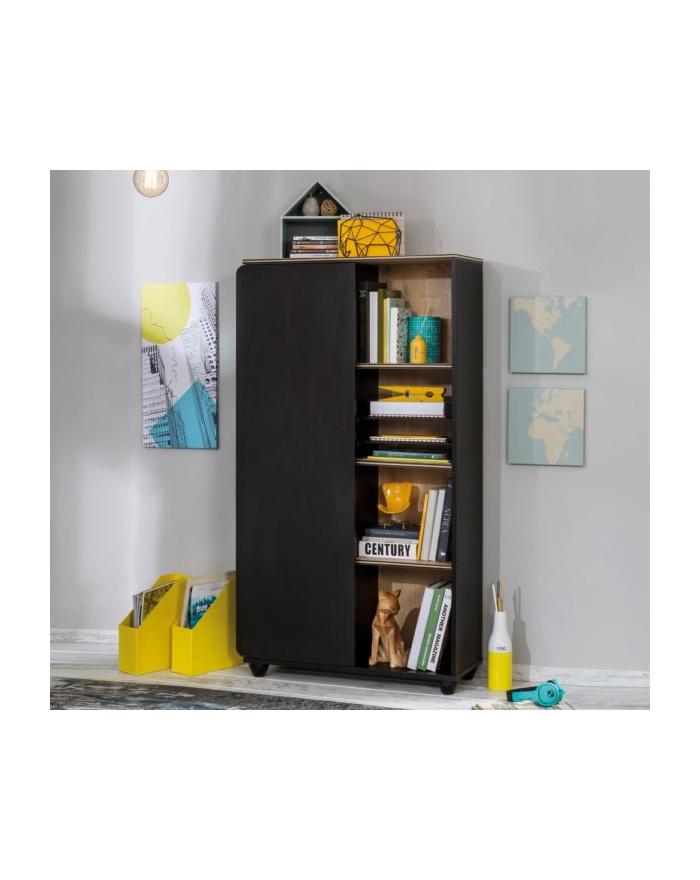 Black Compact Bücherregal mit Schrank