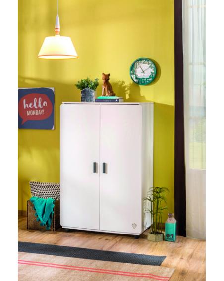 White Compact Kleiderschrank