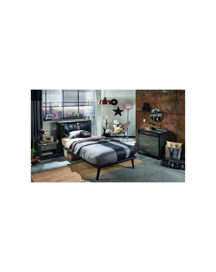 Dark Metal Bett 100x200