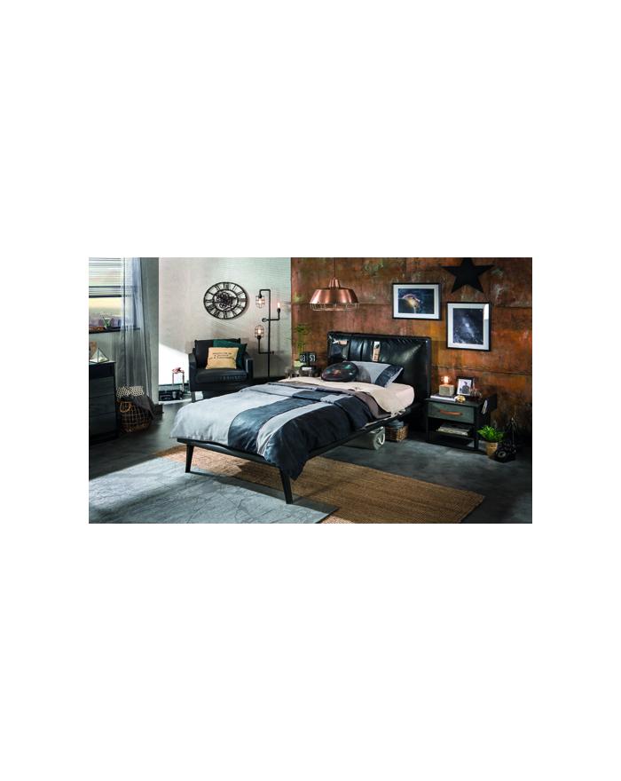 Dark Metal Bett 120x200