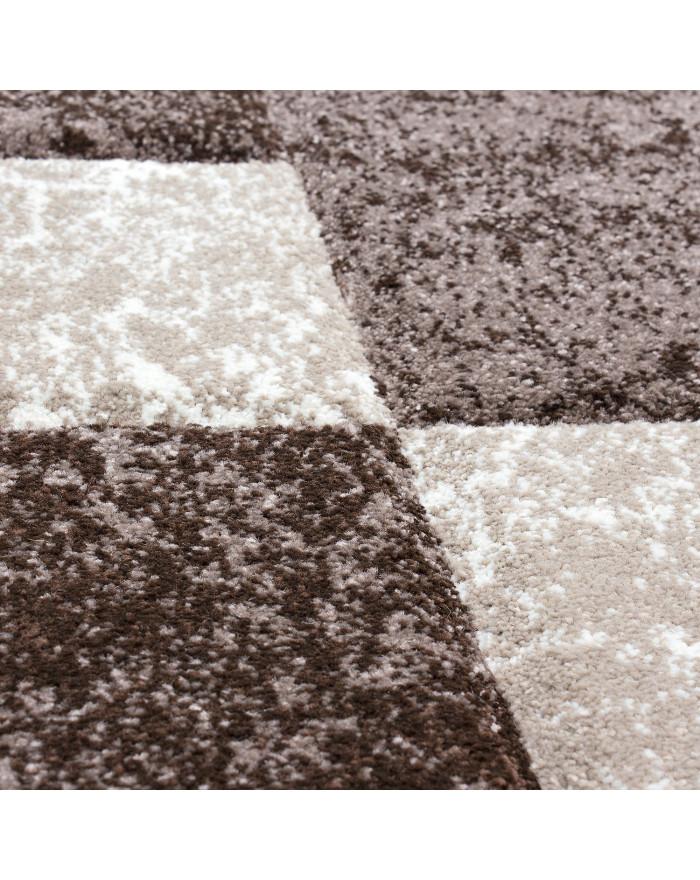 Modern & Designer Konturenschnitt 3D Teppich HAWAII 1330 BRAUN