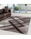 Modern & Designer Konturenschnitt 3D Teppich HAWAII 1390 BRAUN