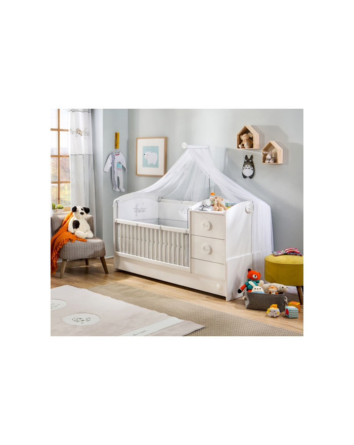 Baby Cotton Babybett umwandelbar zum Kinderbett 75x160