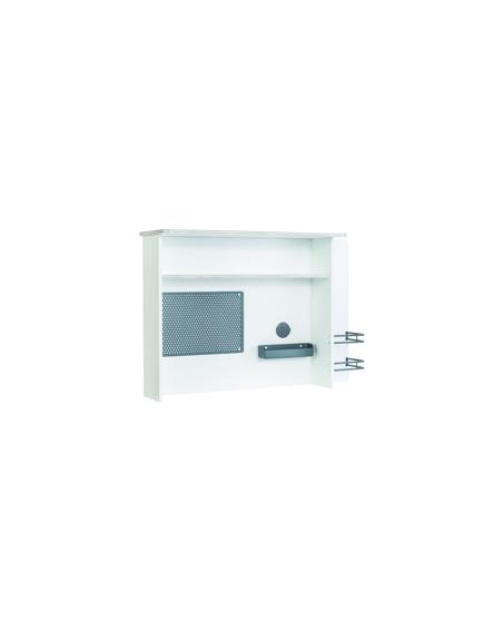 White Schreibtischaufsatz