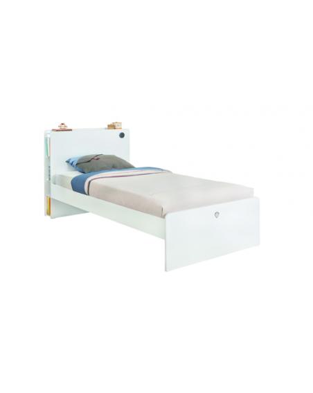 White Jugendbett 100×200