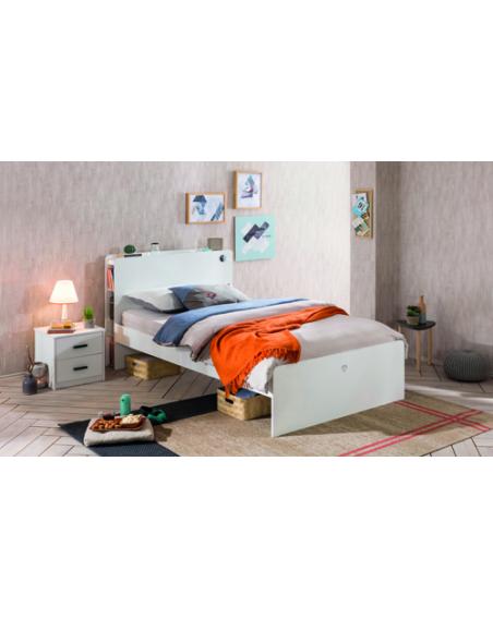 White Jugendbett 120×200