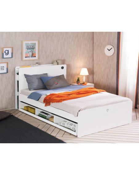 White Gästebett mit Fächern...
