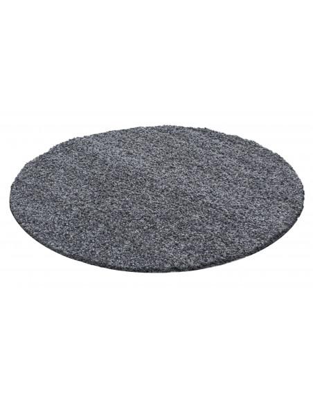 Hochflor Langflor Teppich Shaggy Unifarbe Grau