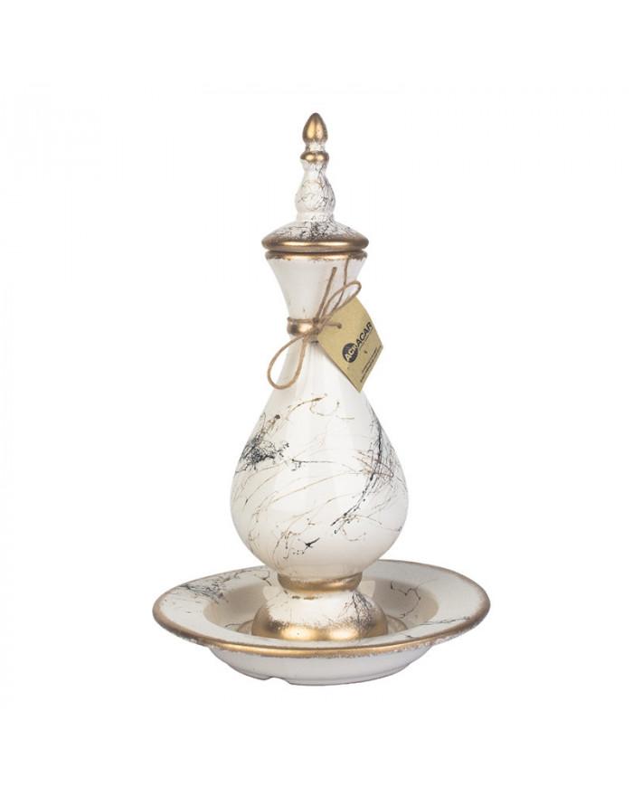 Vase mit Teller