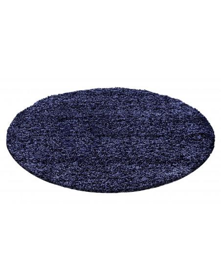 Hochflor Langflor Teppich Shaggy Unifarbe Navy