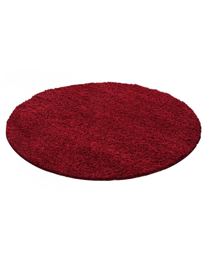 Hochflor Langflor Teppich Shaggy Unifarbe Rot
