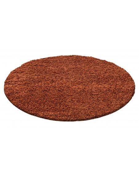 Hochflor Langflor Teppich Shaggy Unifarbe Terra