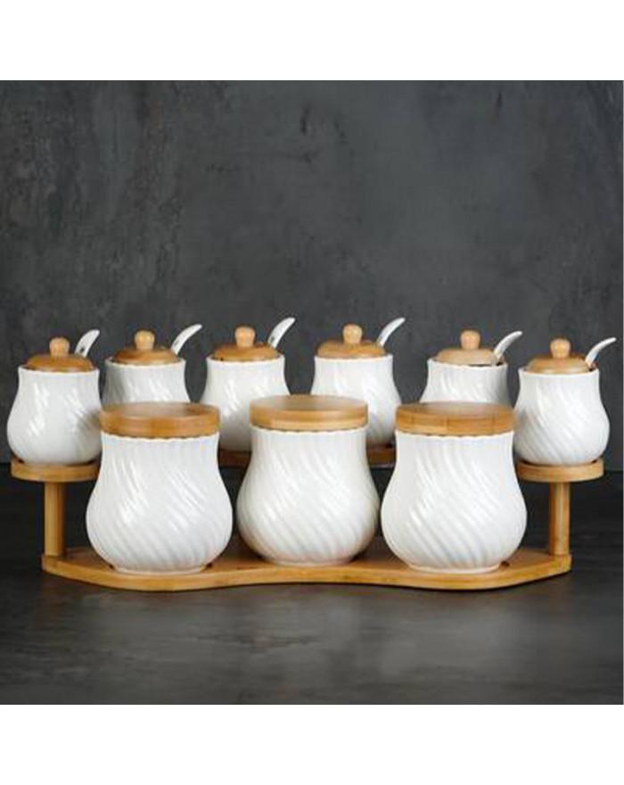 Gewürzset 9 Tlg. mit Bambus