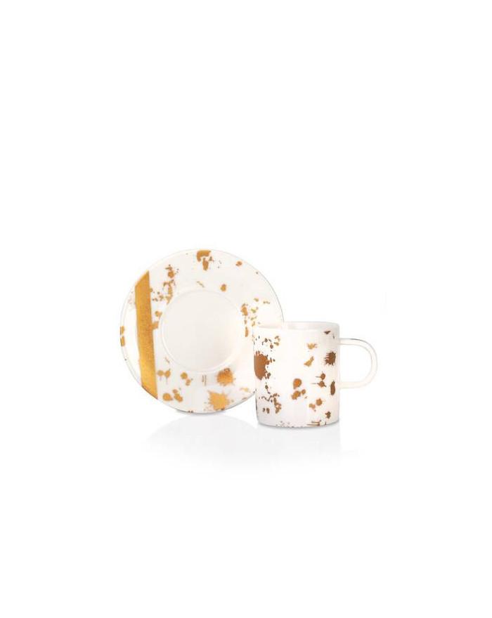 Porzellan Kaffe & Tee-Set 6...