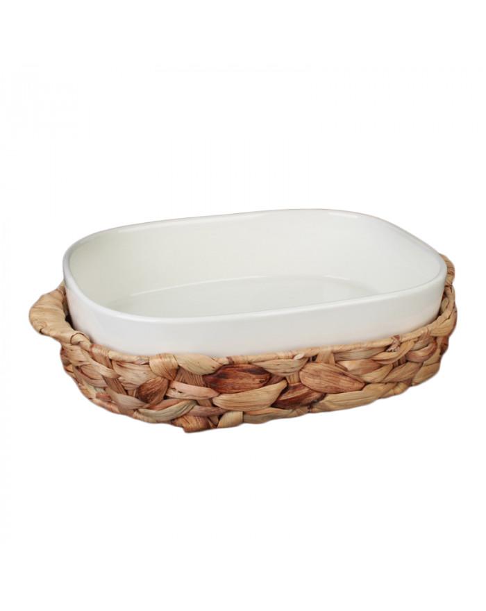 Korb mit Auflaufform Porzellan