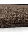 Hochflor Shaggy Teppich Unifarbe DREAM 4000 BRAUN