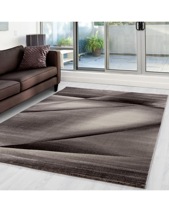 Moderner Designer Teppich Miami 6590 Braun