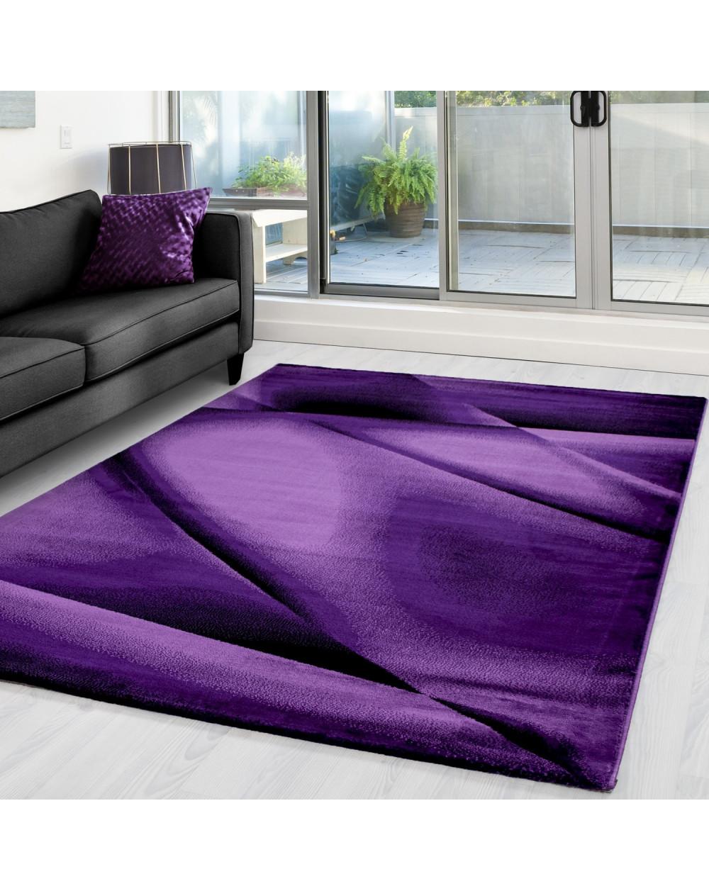 Moderner Designer Teppich MIAMI 6590 LILA