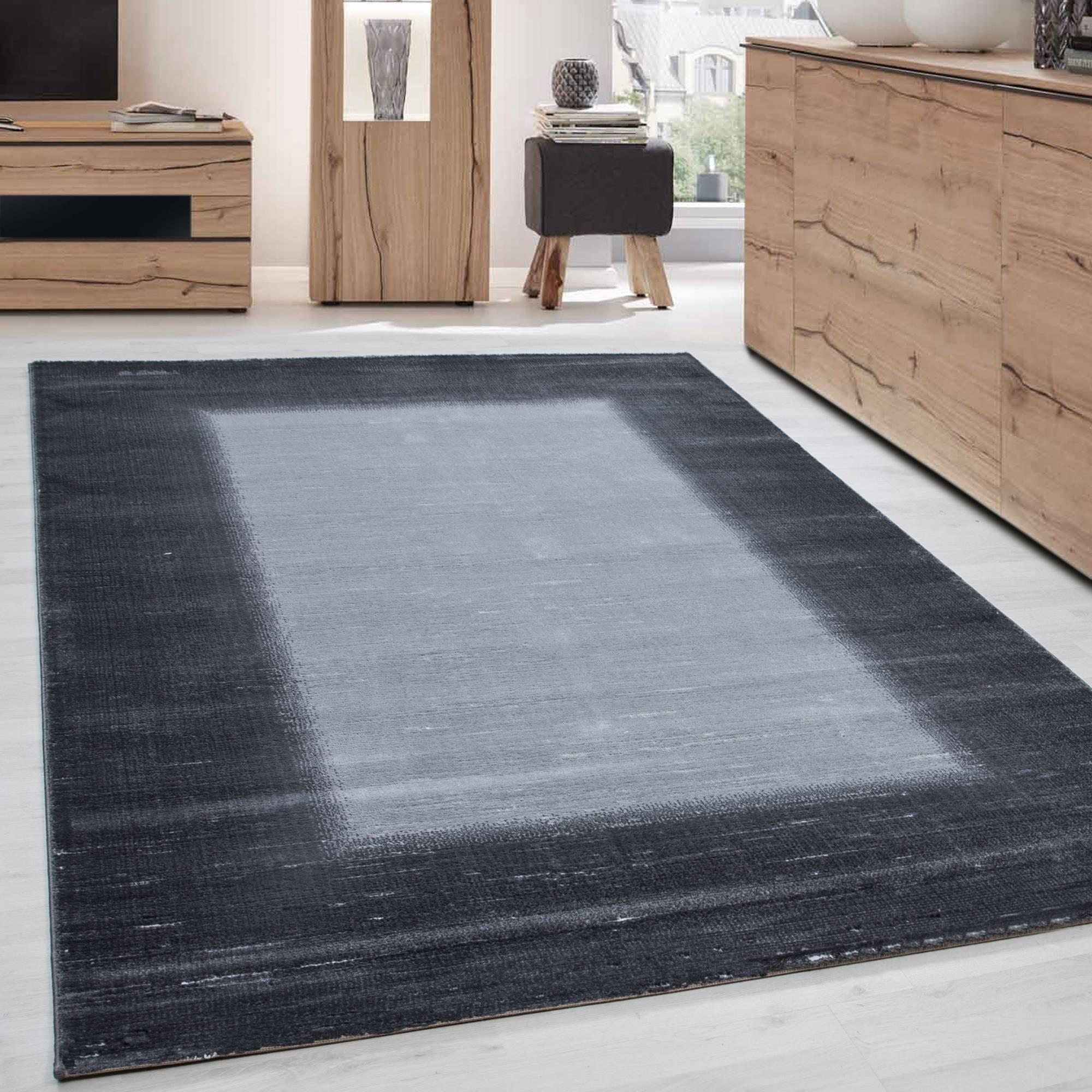 Moderner Designer Glitzer Wohnzimmer Schlafzimmer Teppich TOSCANA 3160 GRAU