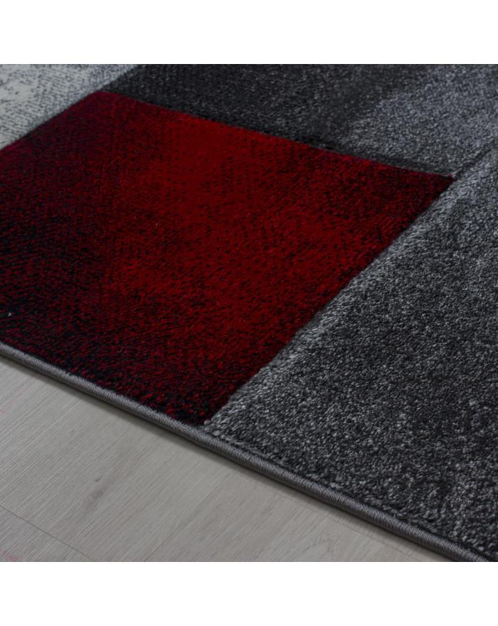 Moderner Designer Konturenschnitt 3D Teppich Hawaii 1710 Rot
