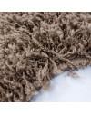 Hochflor Shaggy Teppich Unifarbe DREAM 4000 MOCCA